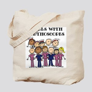 Angels With Stethoscopes Tote Bag