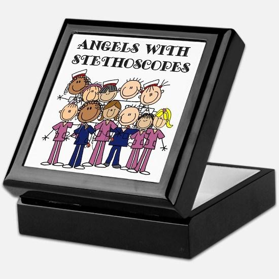 Angels With Stethoscopes Keepsake Box