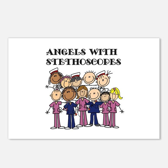 Angels With Stethoscopes Postcards (Package of 8)