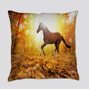 Horse Autumn Everyday Pillow