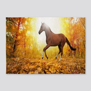Horse Autumn 5'x7'Area Rug