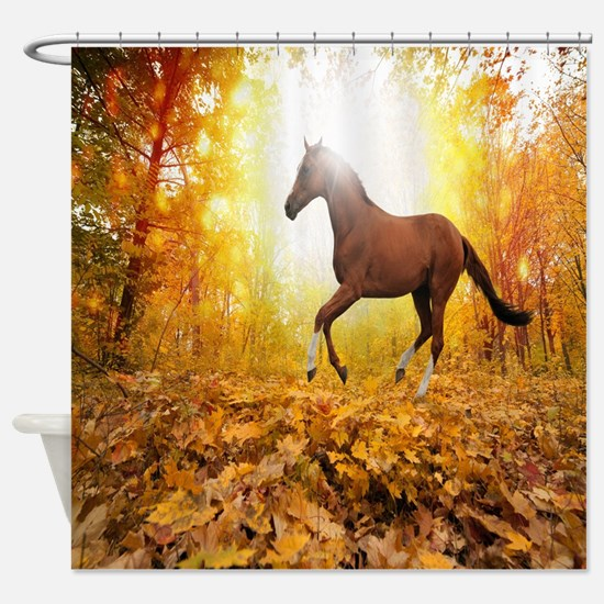 Horse Autumn Shower Curtain