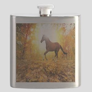 Horse Autumn Flask