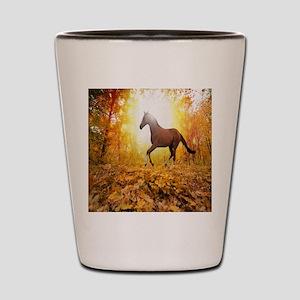 Horse Autumn Shot Glass