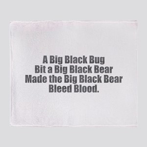 Big Black Bug Throw Blanket