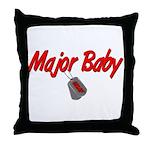 USAF Major Baby  Throw Pillow