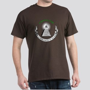 Capitalism is a Pyramid Scheme Dark T-Shirt