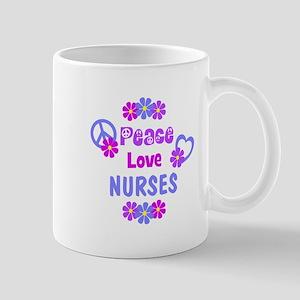 Peace Love Nurses Mug