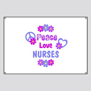 Peace Love Nurses Banner