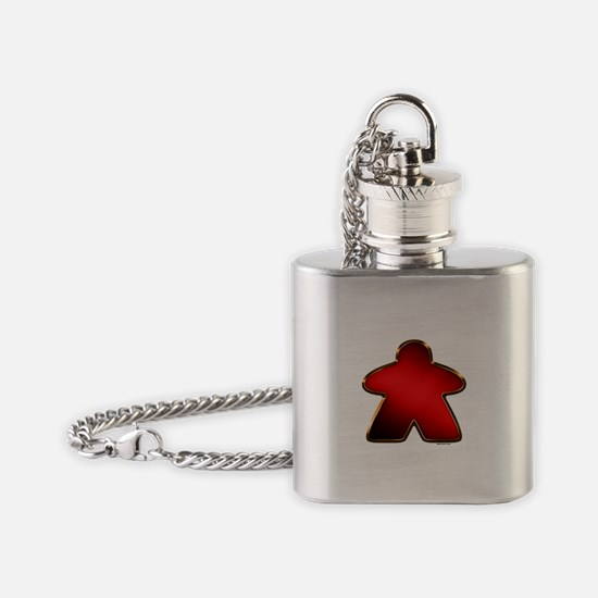 Metallic Meeple - Red Flask Necklace