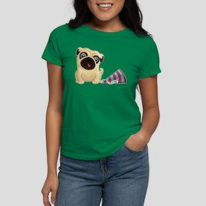 Birthday Pug Women's Dark T-Shirt