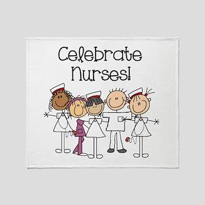 Celebrate Nurses Throw Blanket