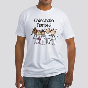 Celebrate Nurses Fitted T-Shirt