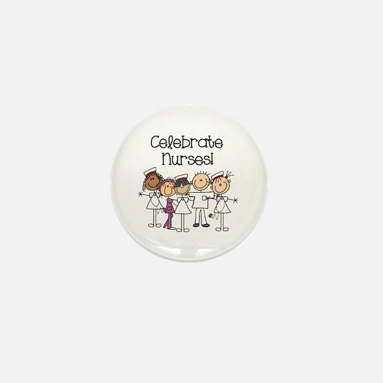 Celebrate Nurses Mini Button