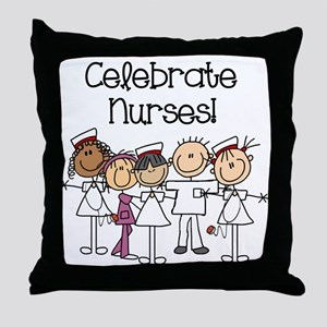 Celebrate Nurses Throw Pillow