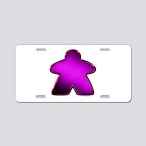 Metallic Meeple - Purple Aluminum License Plate