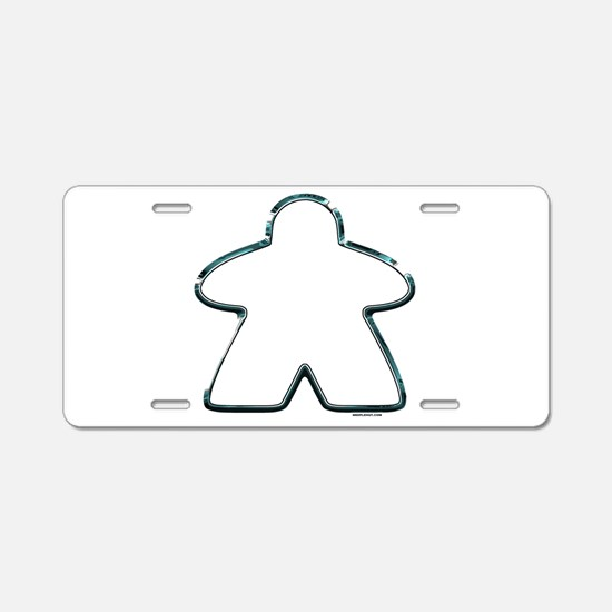 Metallic Meeple Aluminum License Plate