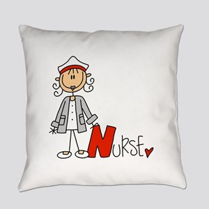 Female Stick Figure Nurse Everyday Pillow