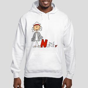 Female Stick Figure Nurse Hooded Sweatshirt
