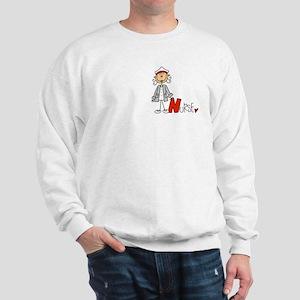 Female Stick Figure Nurse Sweatshirt