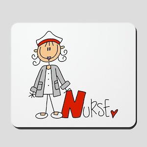 Female Stick Figure Nurse Mousepad