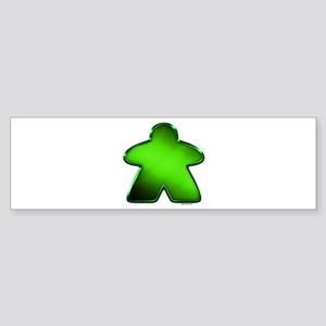 Metallic Meeple - Green Bumper Sticker
