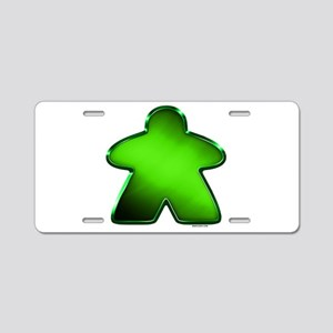 Metallic Meeple - Green Aluminum License Plate