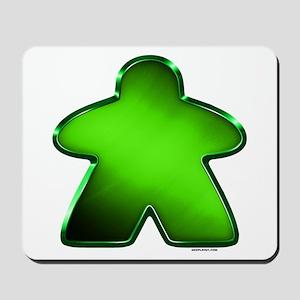 Metallic Meeple - Green Mousepad