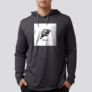 Beaver (line art) Long Sleeve T-Shirt