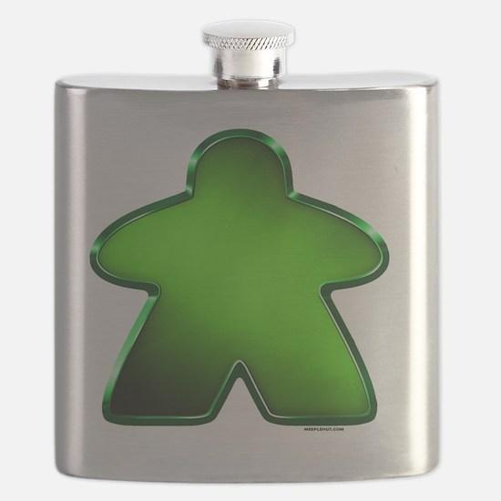 Metallic Meeple - Green Flask