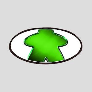 Metallic Meeple - Green Patch