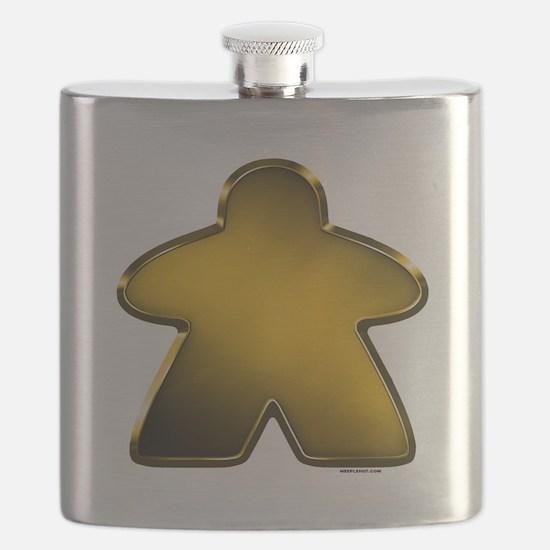 Metallic Meeple - Gold Flask