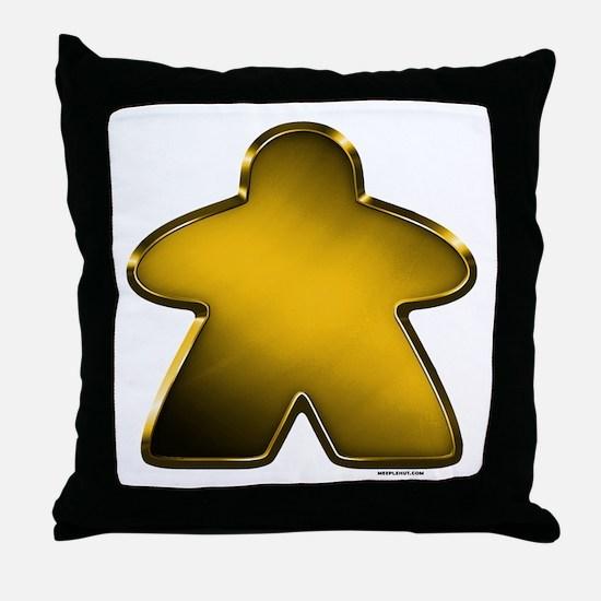 Metallic Meeple - Gold Throw Pillow