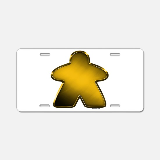 Metallic Meeple - Gold Aluminum License Plate