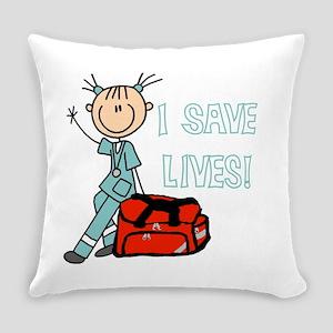 Female Emt I Save Lives Everyday Pillow