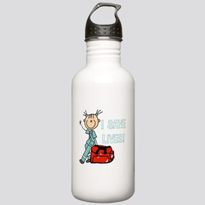 Female EMT I Save Live Stainless Water Bottle 1.0L