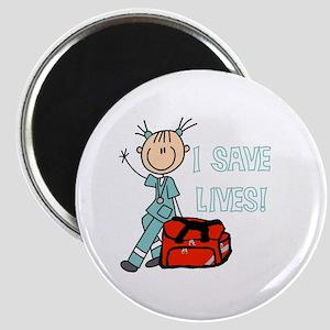 Female EMT I Save Lives Magnet