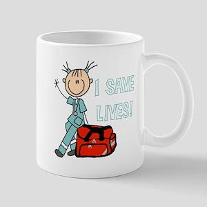 Female EMT I Save Lives Mug