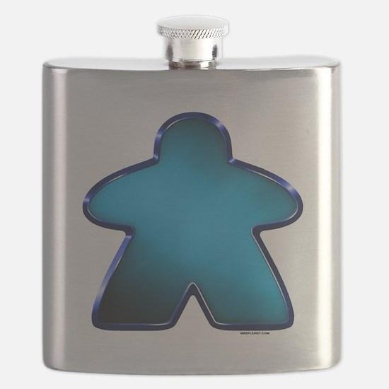 Metallic Meeple - Blue Flask