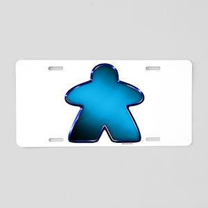 Metallic Meeple - Blue Aluminum License Plate