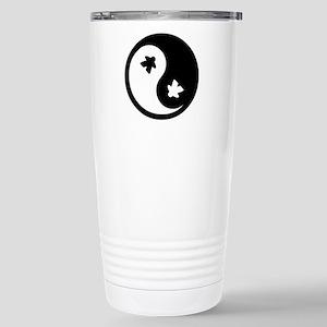 Ying Yang Meeple Stainless Steel Travel Mug