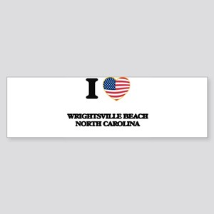 I love Wrightsville Beach North Car Bumper Sticker