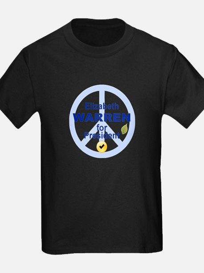 Elizabeth Warren and peace sign T-Shirt