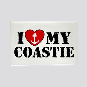 I Love My Coastie Rectangle Magnet