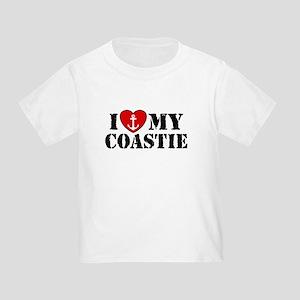 I Love My Coastie Toddler T-Shirt