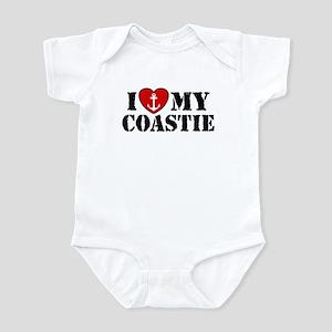 I Love My Coastie Infant Bodysuit