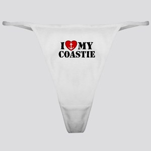 I Love My Coastie Classic Thong