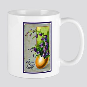 Easter Egg and Blue Bell Flowers Mug