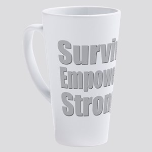 Survivor, Empowered, Strong - Amputee Ribbon 17 oz