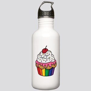 Rainbow cupcake Stainless Water Bottle 1.0L